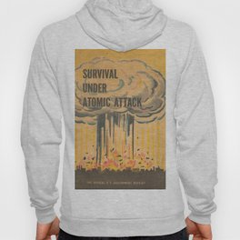 Vintage poster - Survival under atomic attack Hoody