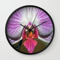 orchid Wall Clocks featuring Orchid  by Sammycrafts