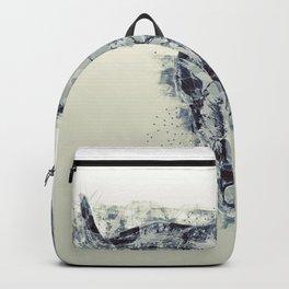 Polygonal Buffalo Skull Backpack