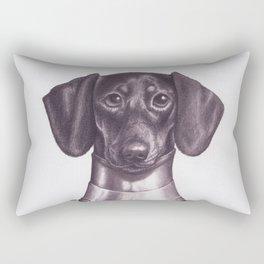 Dachshund Knight Rectangular Pillow
