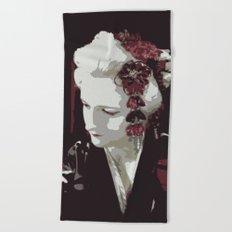 the fair-haired geisha Beach Towel