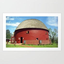 Route 66 - Round Barn 2007 Art Print
