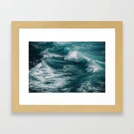 waves #society6 #decor #buyart Framed Art Print