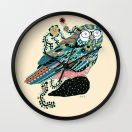 googly eyes owl Wall Clock
