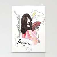 fangirl Stationery Cards featuring Fangirl by Zomberflie