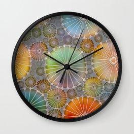 Abstract Floral Circles 4 Wall Clock
