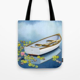 Among The Lily Pads- Square Format Tote Bag