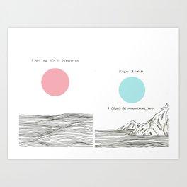 I am The Sea I Drown in Art Print