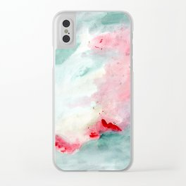 Warm swim Clear iPhone Case