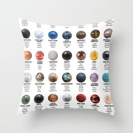 Gemstones And Crystals Throw Pillow