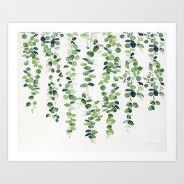 Eucalyptus Garland  Art Print