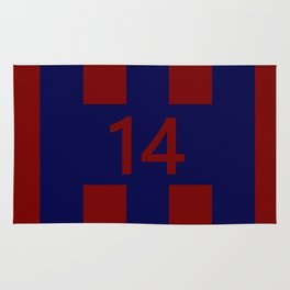 Legendary No. 14 in red and blue Rug