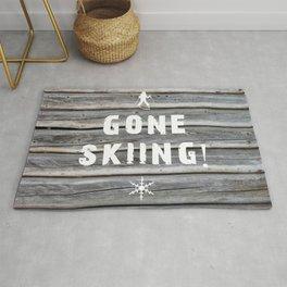 Gone Skiing! Rug