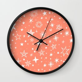 Multiple shapes and sizes stars V Wall Clock
