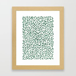Delicate Green Leaves Framed Art Print