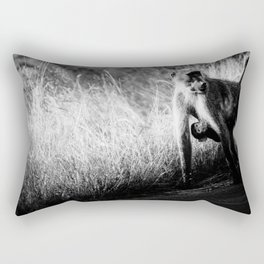 Mother and baby baboon Rectangular Pillow