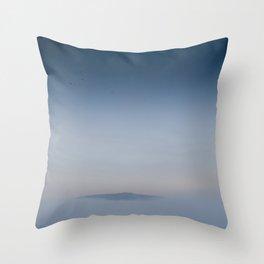 Peaceful Mountain Throw Pillow
