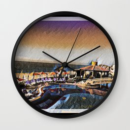 Colorful Cabo Wall Clock
