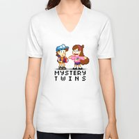 gravity falls V-neck T-shirts featuring Gravity Falls by Ryan John