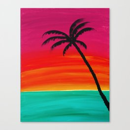 Sunset Palm 2 Canvas Print
