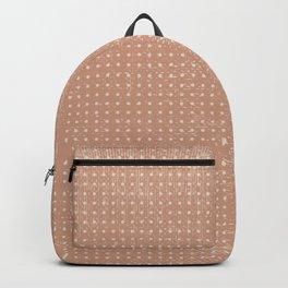 Vintage peach ivory polka dots brushstrokes pattern Backpack