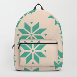 Poinsettia Pattern Christmas Ornament Backpack