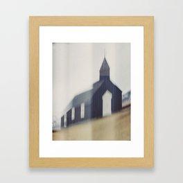 Búðakirkja. Black Church at Budir, Iceland. (In camera manipulation). Framed Art Print