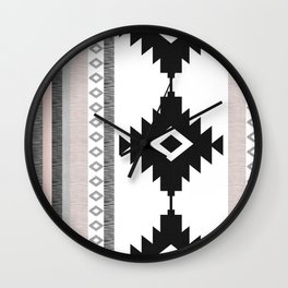 Pueblo in Pink Wall Clock