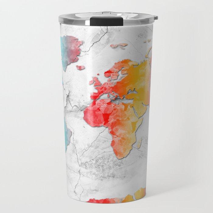 world map marble 2 Travel Mug