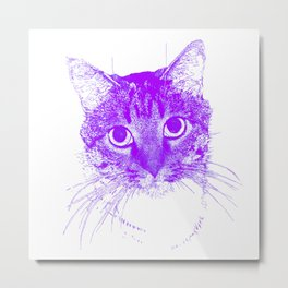 Jazz, drawing, purple Metal Print