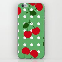 cherry iPhone & iPod Skins featuring cherry by vitamin
