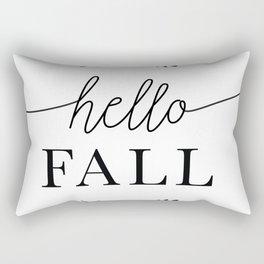 Hello Fall Autumn, Fall & Thanksgiving Art Rectangular Pillow