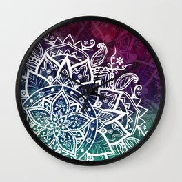 Free Spirit Floral Mandala Wall Clock