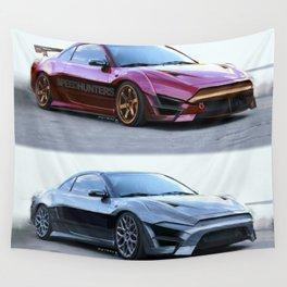 Mitsubishi Eclipse Artrace custom. Wall Tapestry