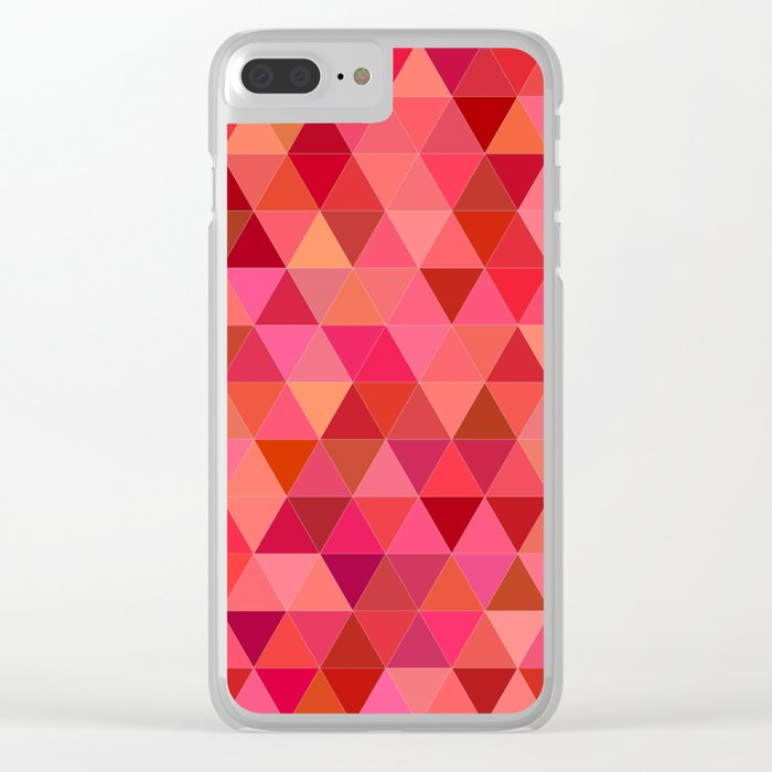 Red triangle tiles Clear iPhone Case