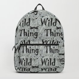 Wild Thing with Dragonfly~ Handmade Recycled Paper Background Backpack