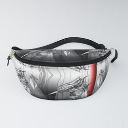 Kingfisher 1a. Black on white background-(Red eyes series) Fanny Pack