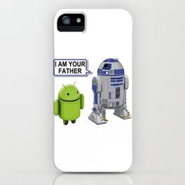 R2-D2 to Android: I am your father iPhone Case