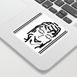 HAPPY LADY DESIGN PRINT PATTERN Sticker