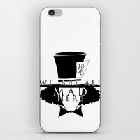 mad hatter iPhone & iPod Skins featuring Mad Hatter by Rose's Creation