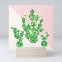 Linocut Cacti Family Mini Art Print