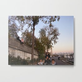 Candid Paris Metal Print
