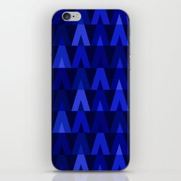 ABSTRACT TRIANGLES | cobalt blue iPhone Skin