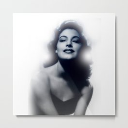 Ava Gardner Glow Metal Print