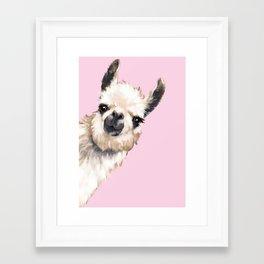 Sneaky Llama Framed Art Print