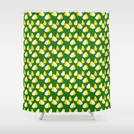Watercolor Pear Pattern ~ Green Shower Curtain