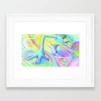 dj Framed Art Prints featuring DJ by The Art of Austen Mengler