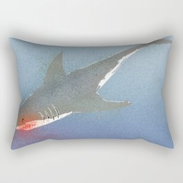 The White Shark Rectangular Pillow