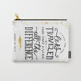 The Road Not Taken By Robert Frost Carry-All Pouch