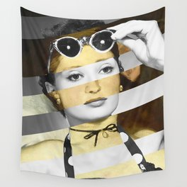 Manet's Olympia & Audrey Hepburn Wall Tapestry